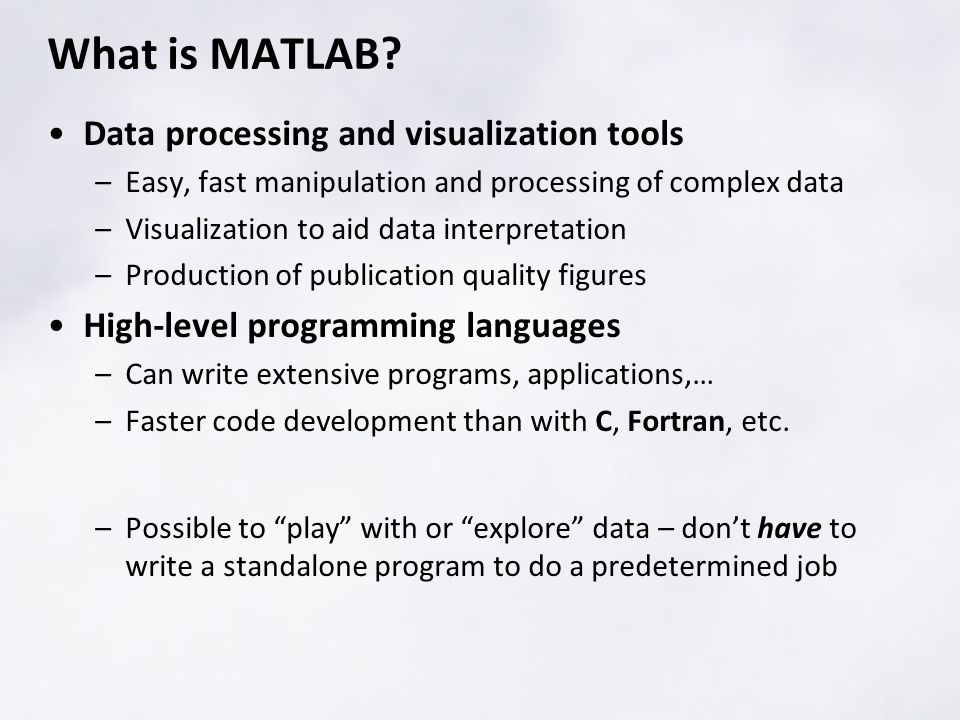 What is MATLAB.