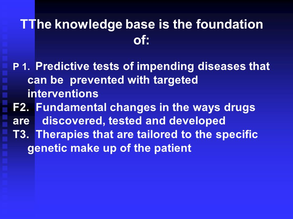 TThe knowledge base is the foundation of: P 1.