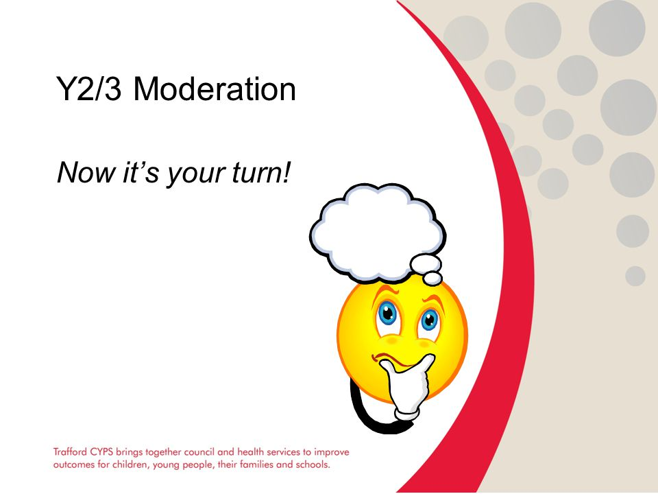 Y2/3 Moderation Now it's your turn!