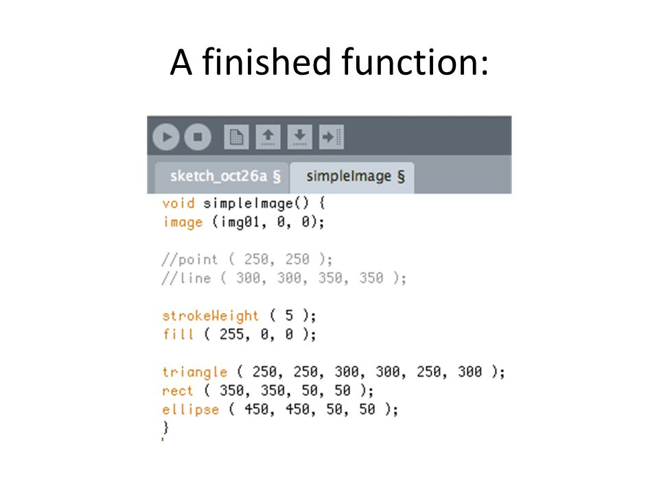 A finished function:
