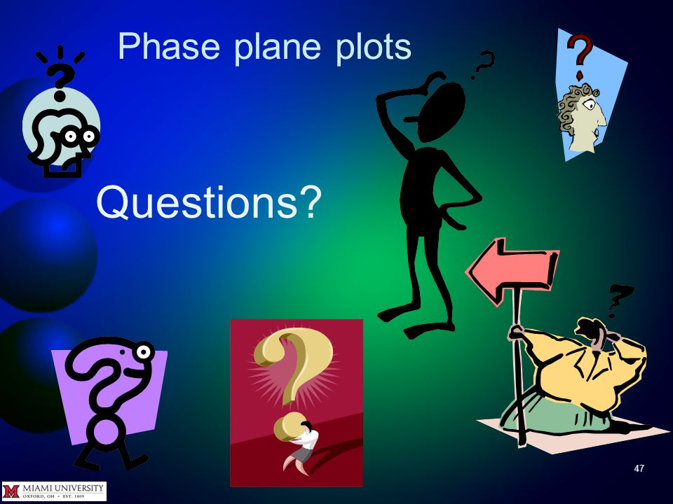 Phase plane plot 46 Well, as that famous philosopher might say