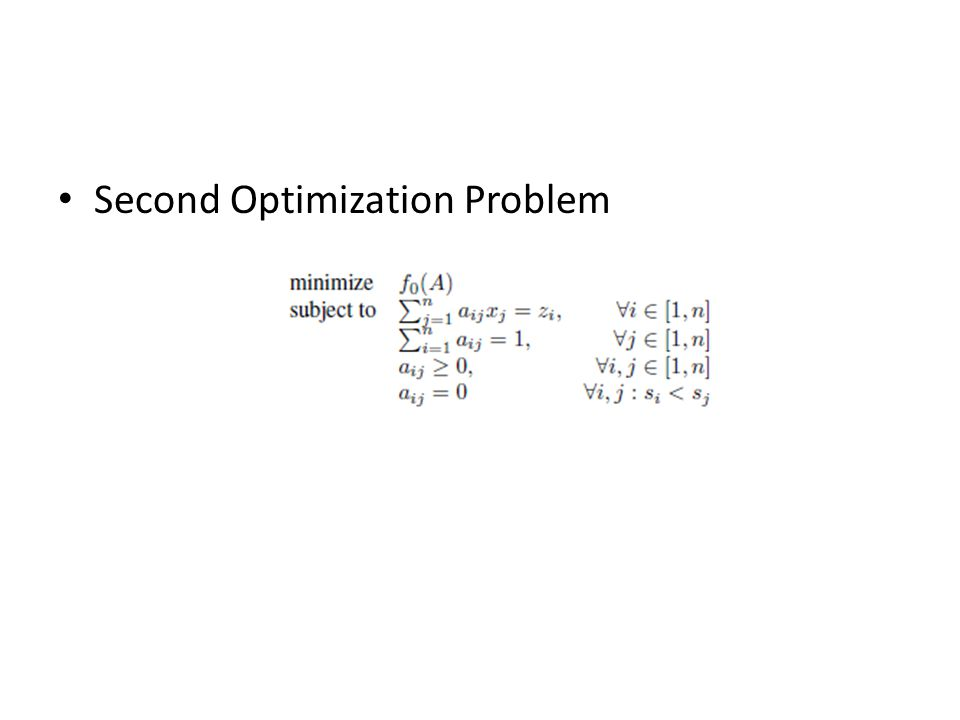 Second Optimization Problem