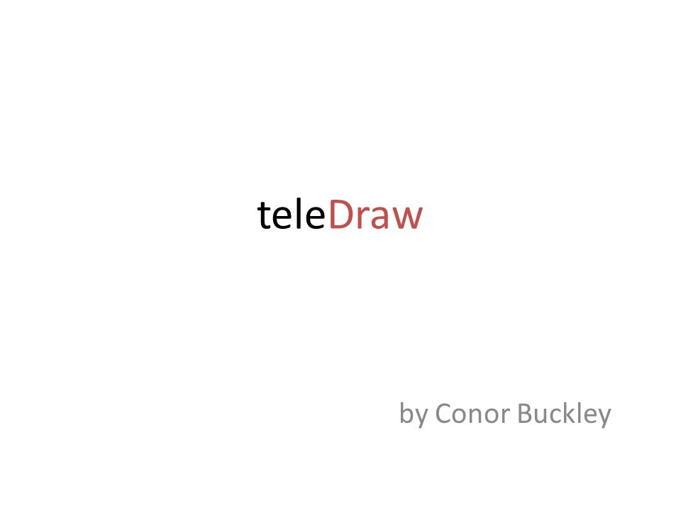teleDraw by Conor Buckley