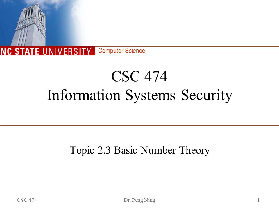 Computer Science CSC 474Dr.