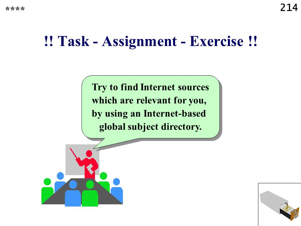 214 !. Task - Assignment - Exercise !.