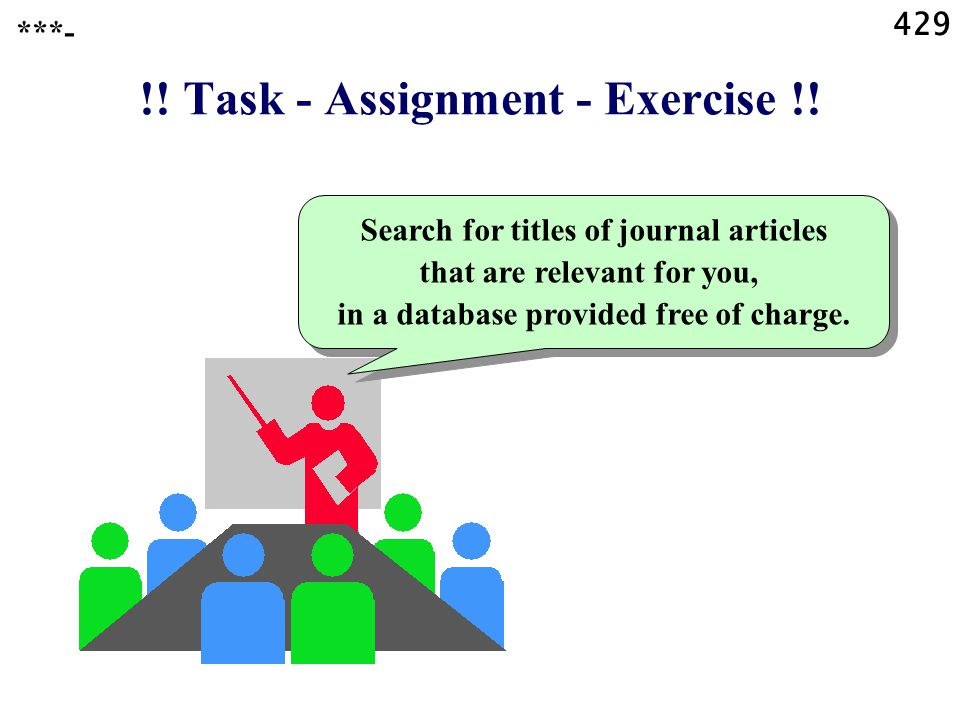 429 !. Task - Assignment - Exercise !.