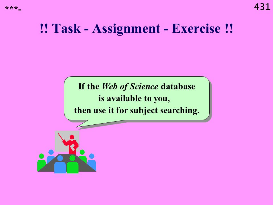 431 !. Task - Assignment - Exercise !.