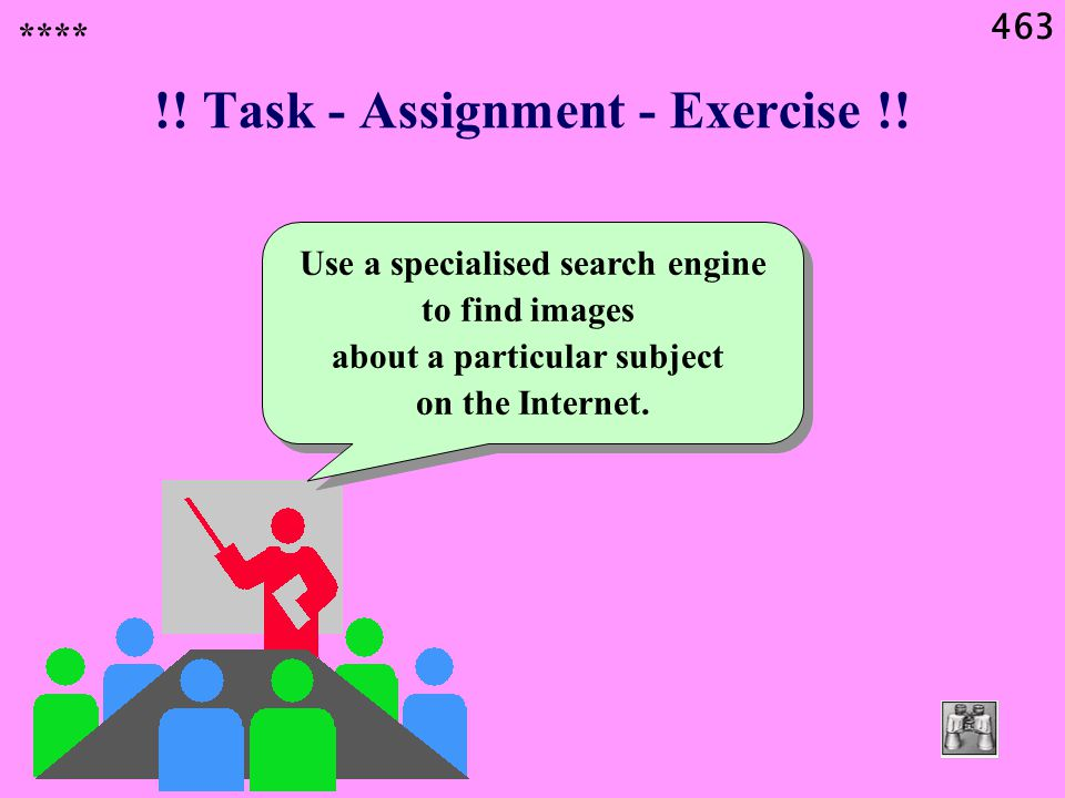 463 !. Task - Assignment - Exercise !.
