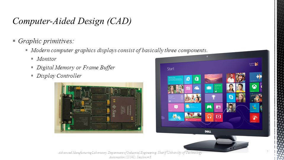  Graphic primitives:  Modern computer graphics displays consist of basically three components.