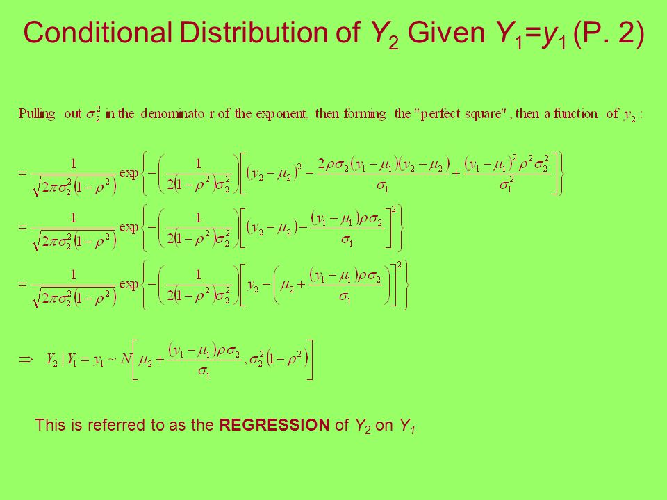 Conditional Distribution of Y 2 Given Y 1 =y 1 (P.