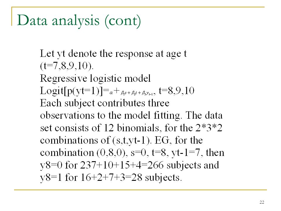 22 Data analysis (cont)