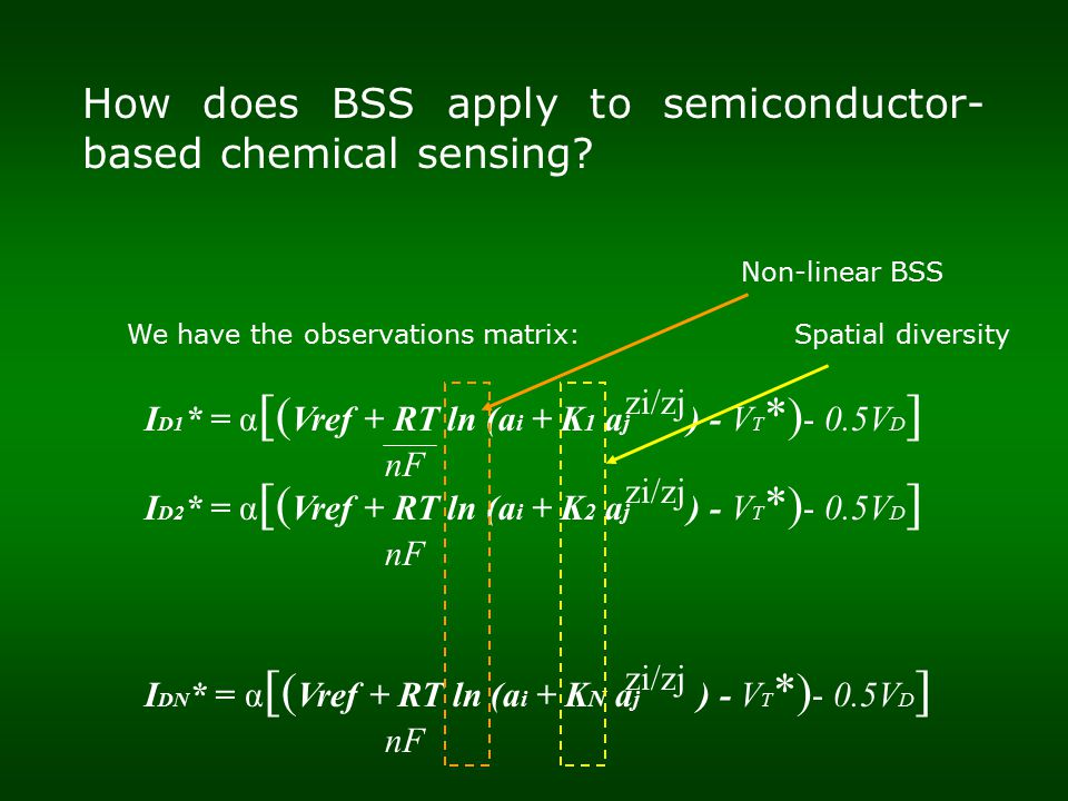 How does BSS apply to semiconductor- based chemical sensing.