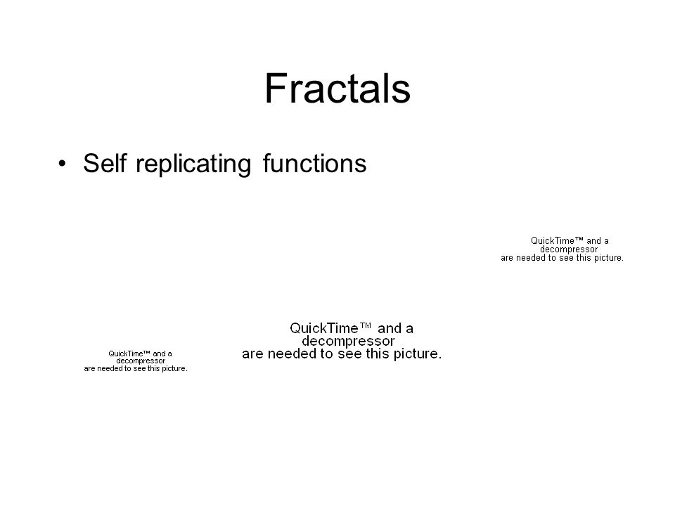 Fractals Self replicating functions