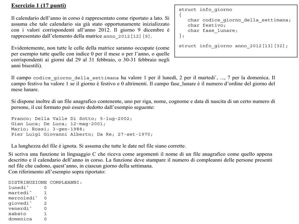 Calendario Lunare 1988.Fondamenti Di Informatica 1 Esercizi Di Riepilogo Ppt
