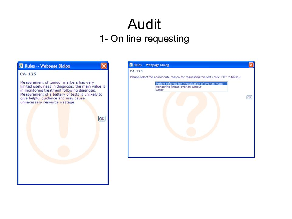 Audit 1- On line requesting