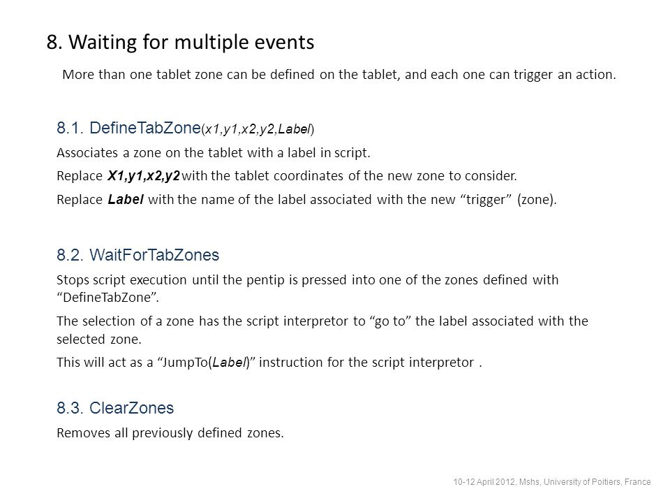 8. Waiting for multiple events 8.1.