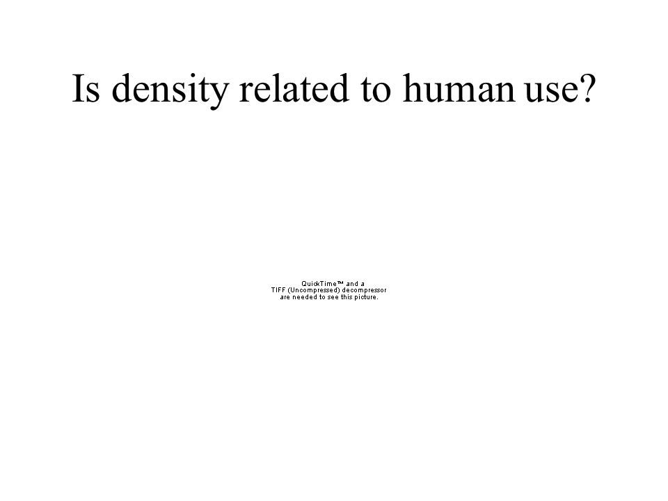 Is density related to human use