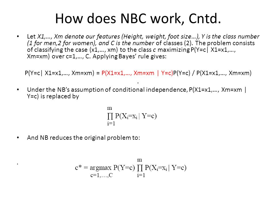 How does NBC work, Cntd.