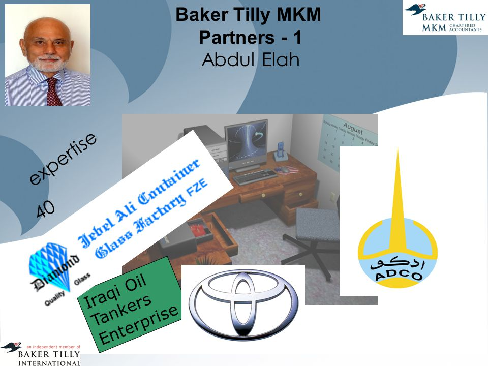 Baker Tilly MKM Partners - 1 Abdul Elah expertise 40 Iraqi Oil Tankers Enterprise