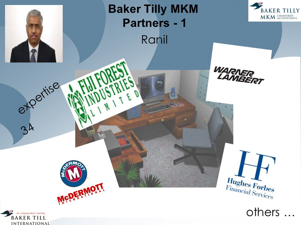 Baker Tilly MKM Partners - 1 Ranil expertise 34 others …