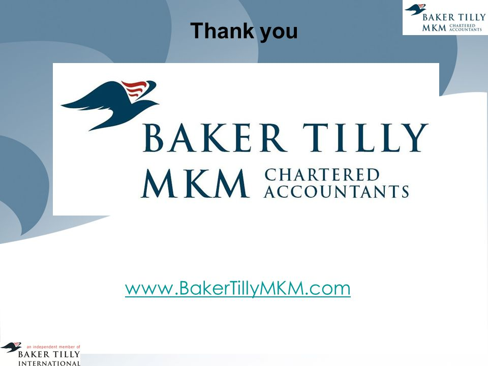Thank you www.BakerTillyMKM.com