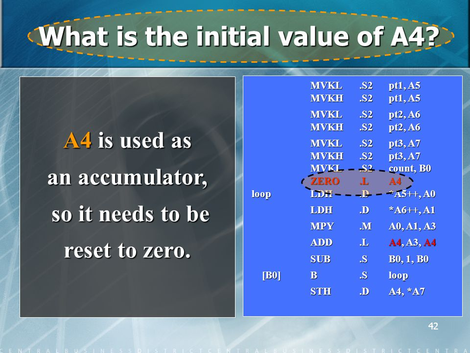 42 What is the initial value of A4.