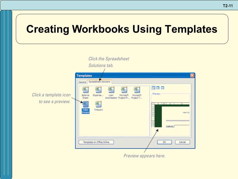 T2-11 Creating Workbooks Using Templates