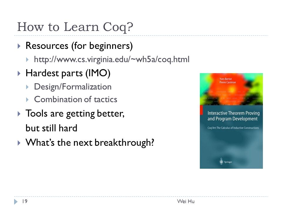 How to Learn Coq.