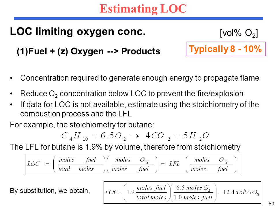 60 LOC limiting oxygen conc.