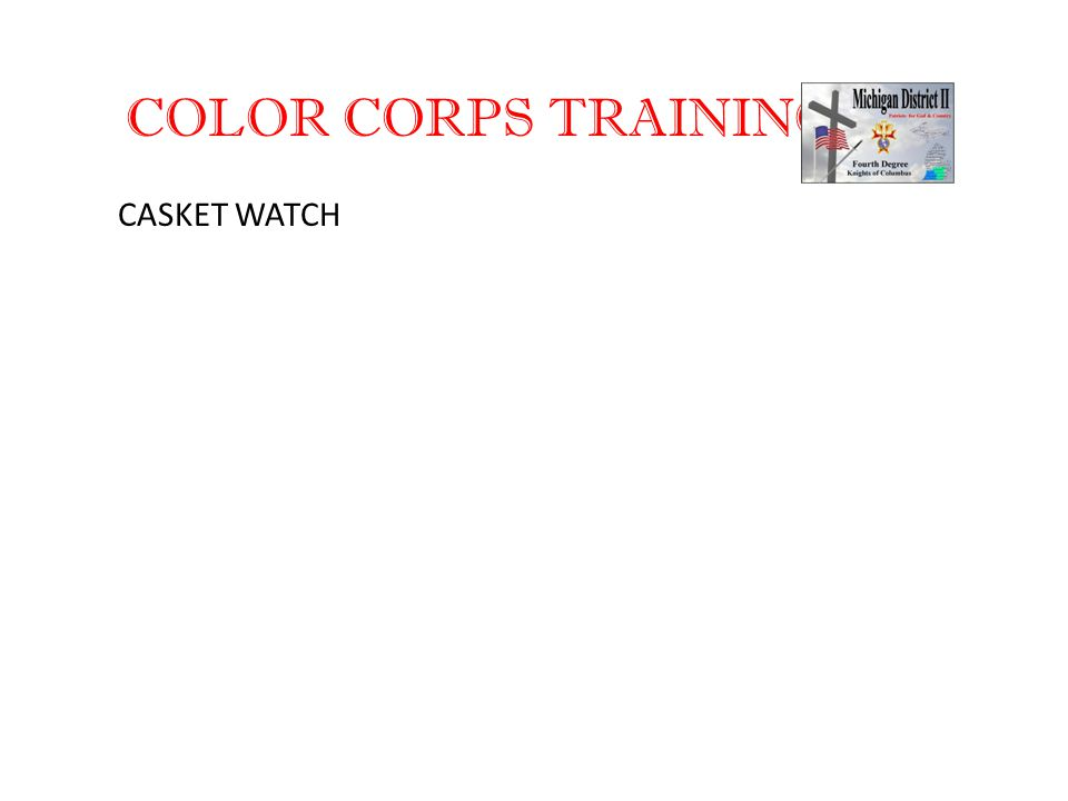 COLOR CORPS TRAINING CASKET WATCH