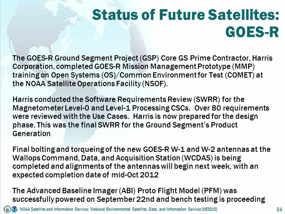 Joint NWS & NESDIS/OSPO/SPSD Quarterly Meeting & Telecon