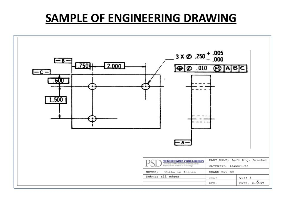 SAMPLE OF ENGINEERING DRAWING