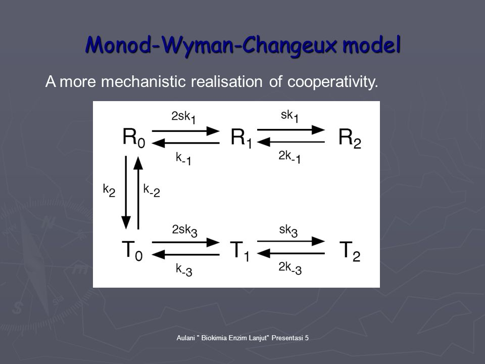 Aulani Biokimia Enzim Lanjut Presentasi 5 Monod-Wyman-Changeux model A more mechanistic realisation of cooperativity.