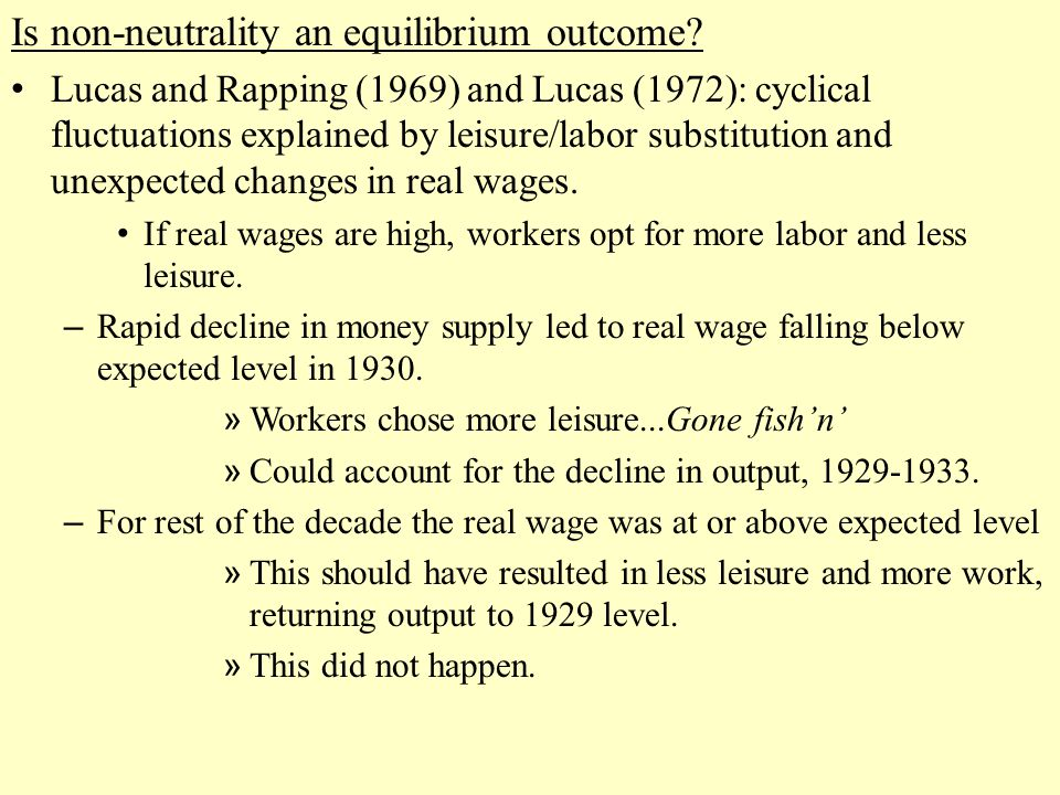 Is non-neutrality an equilibrium outcome.