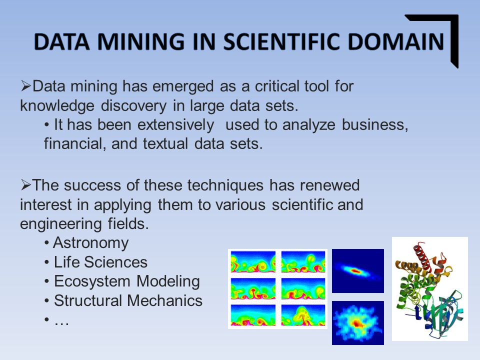  Data mining has emerged as a critical tool for knowledge discovery in large data sets.