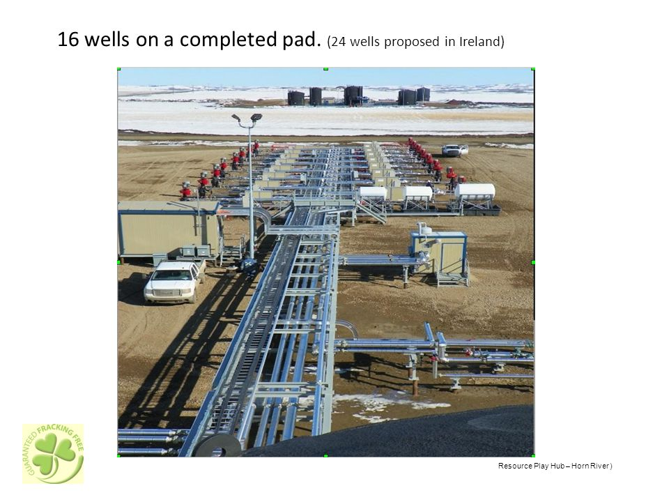 16 wells on a completed pad. (24 wells proposed in Ireland) Resource Play Hub – Horn River )