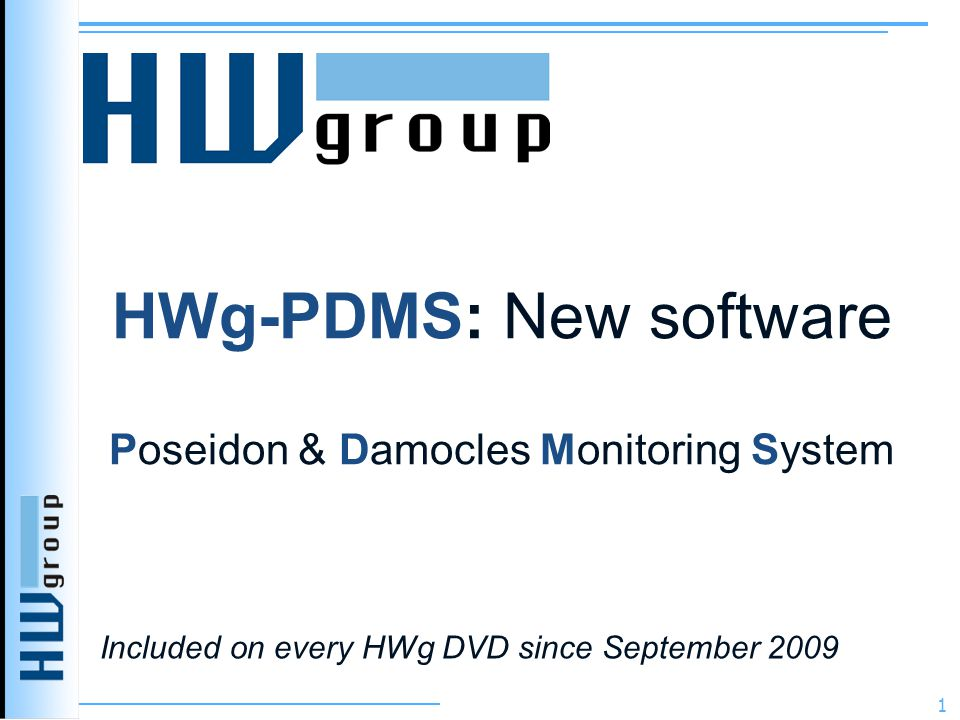 HWg-PDMS: New software Poseidon & Damocles Monitoring System