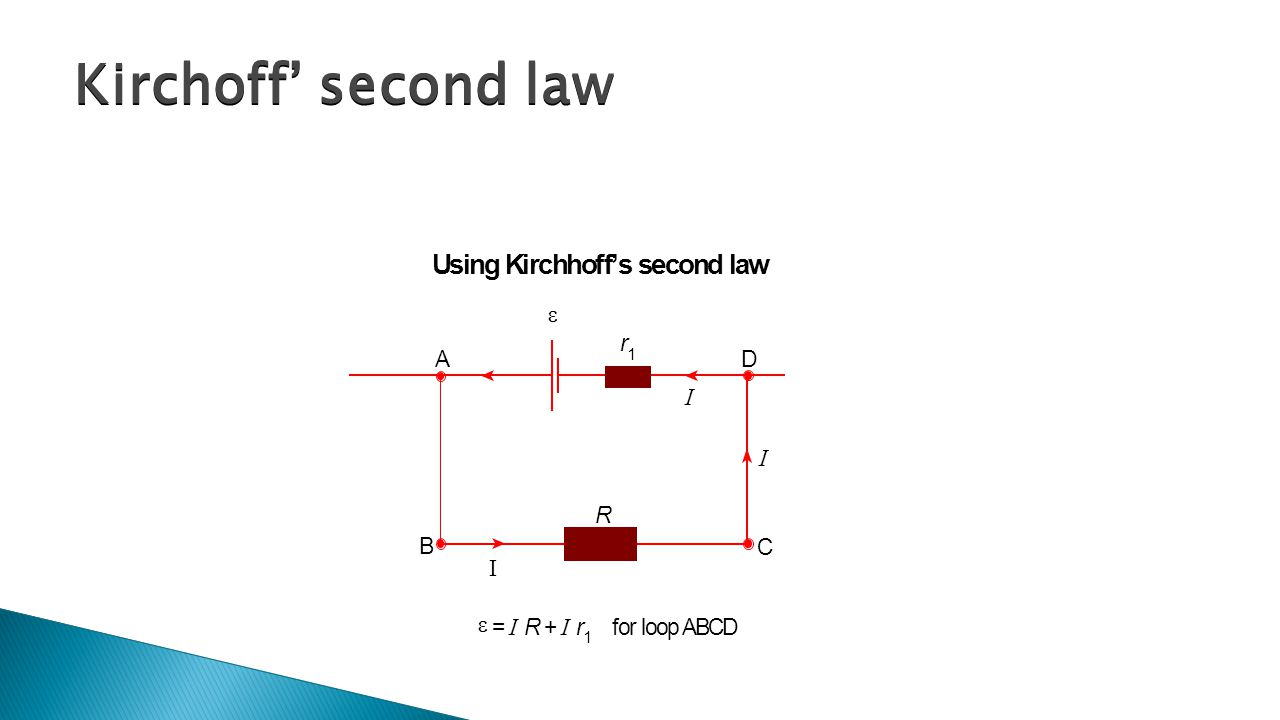 Kirchoff' second law