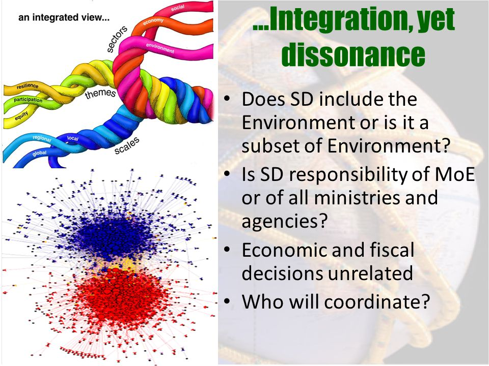 …Integration, yet dissonance Does SD include the Environment or is it a subset of Environment.