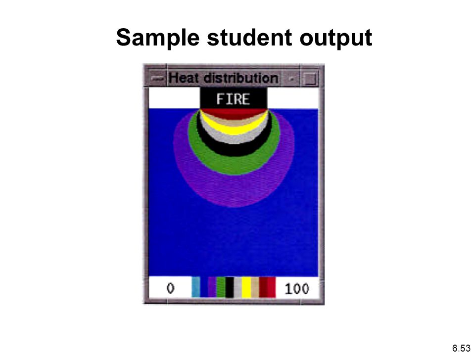 Sample student output 6.53