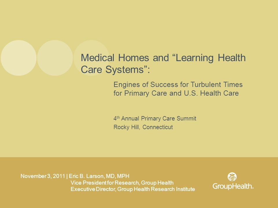 Engines of Success for Turbulent Times for Primary Care and U.S.