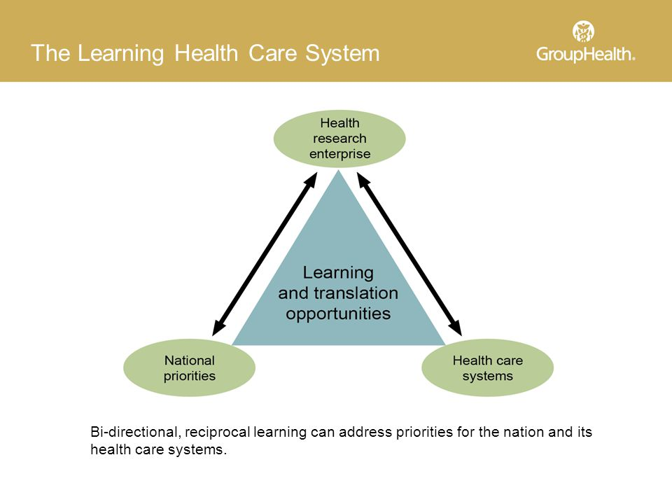 Bi-directional, reciprocal learning can address priorities for the nation and its health care systems.
