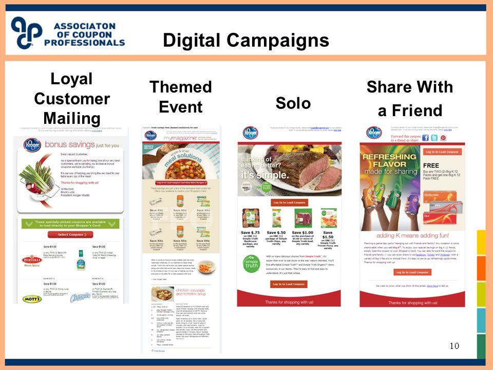 Digital Campaigns Share With a Friend Solo 10 Themed Event Loyal Customer Mailing