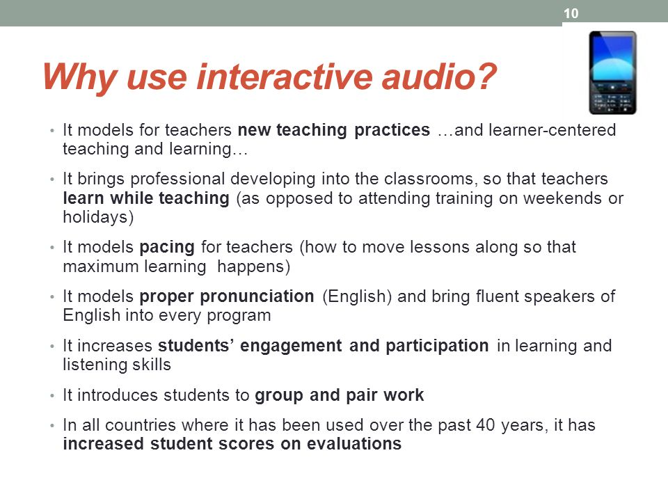 Why use interactive audio.