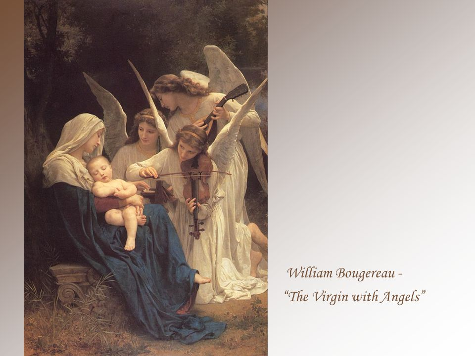 William Bougereau - The Virgin of the Lilies