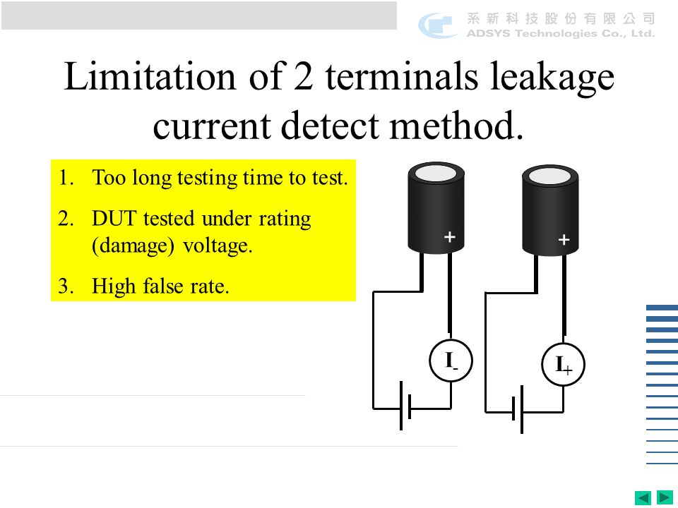 1.Too long testing time to test. 2.DUT tested under rating (damage) voltage.