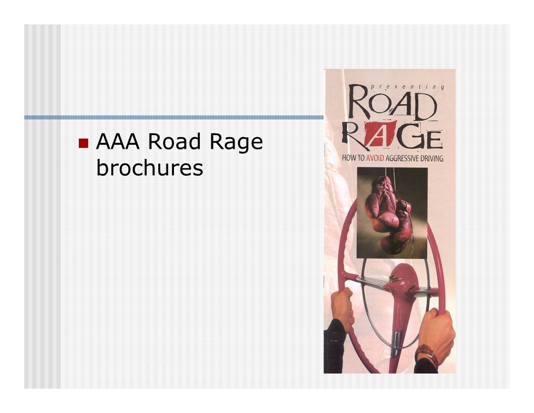 AAA Road Rage brochures