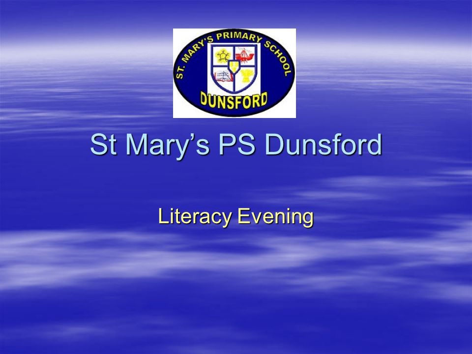St Mary's PS Dunsford Literacy Evening