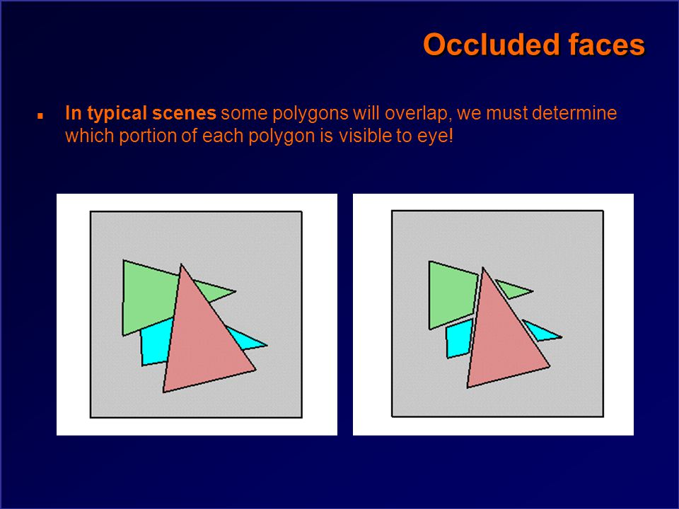 Occluded faces Does backface culling always determine visibility completely for a single object