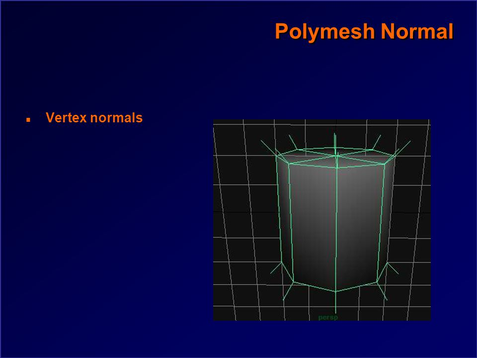 Polymesh Normal n Face normals